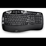 Logitech K350 toetsenbord RF Wireless QWERTZ Duits Black