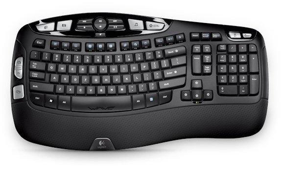 Logitech K350 toetsenbord RF Draadloos QWERTZ Duits Zwart