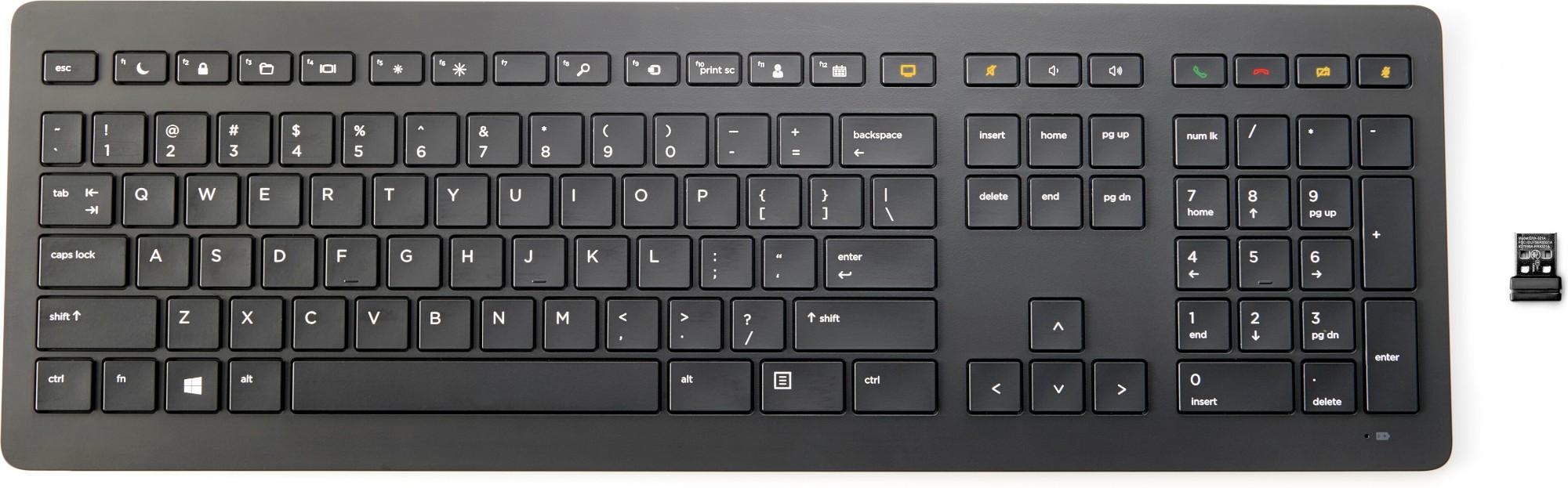 HP Z9N39AA teclado RF inalámbrico Negro