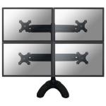 "Newstar FPMA-D700DD4 30"" Black flat panel desk mount"