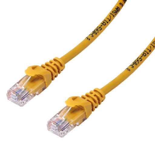 MCL 5m Cat6a U/UTP cable de red U/UTP (UTP) Amarillo