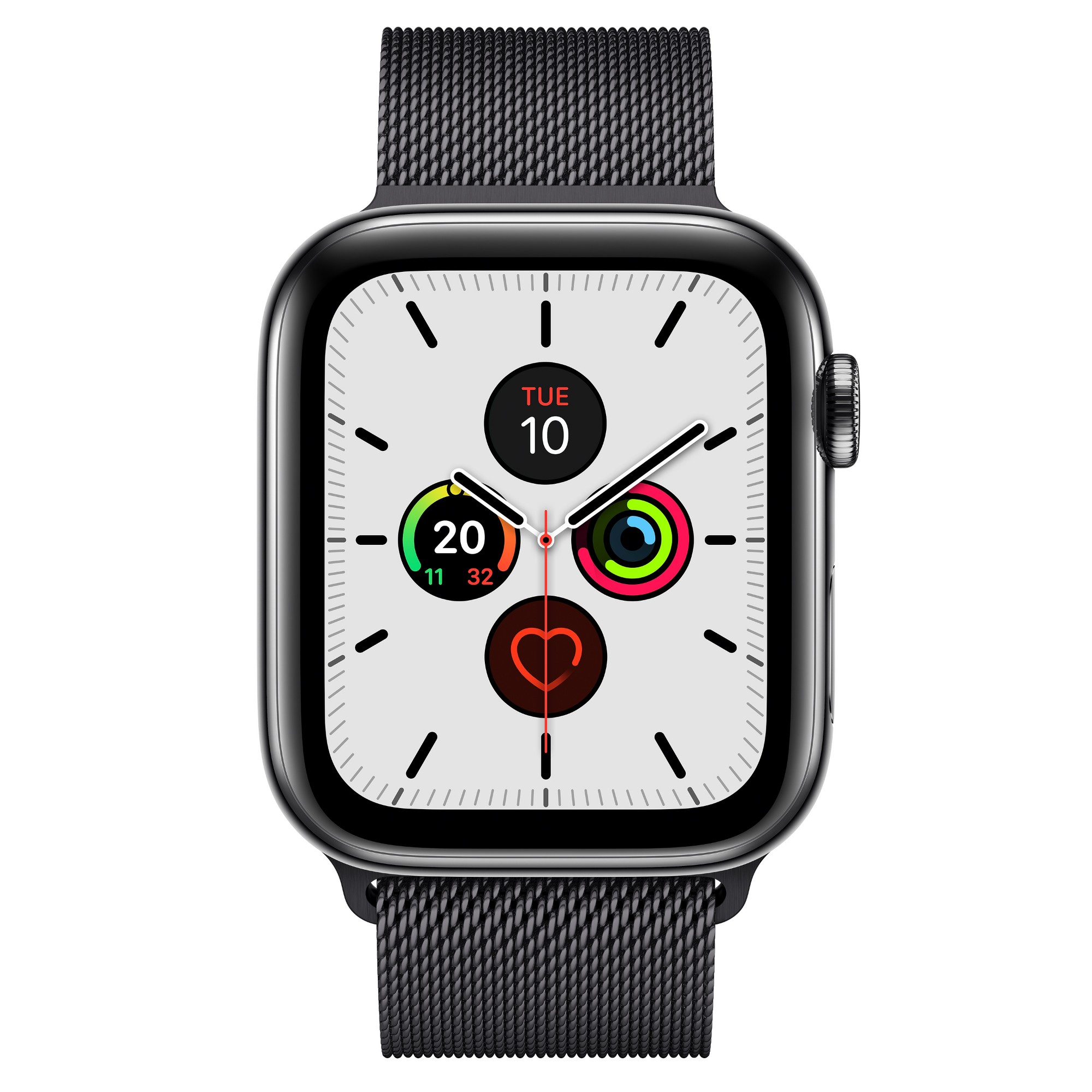 Apple Watch Series 5 smartwatch Black OLED Cellular GPS (satellite)