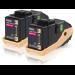Epson Doble cartucho de tóner magenta 7.5kx2