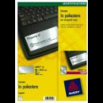 Avery L6012-20 printer label Silver