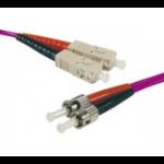 Hypertec 392537-HY fibre optic cable 1 m OM4 2x SC 2x ST Pink