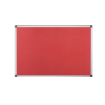 Bi-Office Maya Red Felt Noticeboard Aluminium Frame DD
