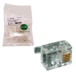 MCL RJ-11-50 conector Transparente