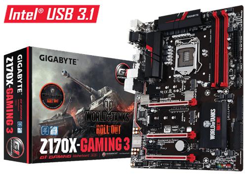 GIGABYTE GA-Z170X-GAMING 3-EU Intel Socket 1151 ATX DDR4 VGA/DVI-D/HDMI M.2 USB 3.0/3.1 Motherboard