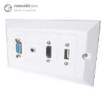 CONNEkT Gear 5m AV Snap-in Modular Cable Kit - HDMI/VGA/USB Type B/3.5mm + USB Type A