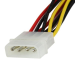 StarTech.com 12in LP4 to 2x Right Angle Latching SATA Power Y Cable Splitter - 4 Pin Molex to Dual SATA PYO2LP4LSATR