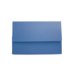 Exacompta Value Document Wallet Foolscap Blue PK50