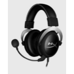 Kingston Technology HyperX Cloud Silver Gaming Headset with In-Line Audio Control for PC & PS4 & Xbox One, Removable Mic