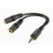 Kanex Stereo Splitter Cable - Black, 3.5mm (KAUXFFMC)