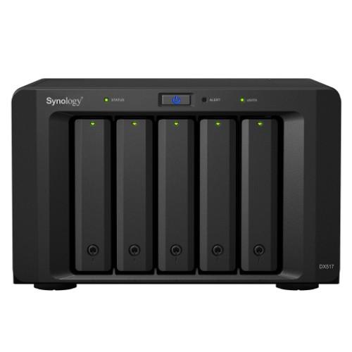 Synology DX517 30TB 5x6TB Seagate IronWolf 5 Bay NAS Expansion Unit disk array Desktop Black