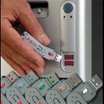 Lindy USB Port Blocker - Pack 4, Colour Code: Blue security access control system