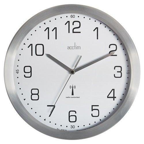 Anglo Continental Acctim Mason RC Wall Clock 25cm Aluminium 74337
