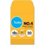 TUDOR NO.4 POCKET ENVELOPE MOIST SEAL 107 X 60MM GOLD PACK 50