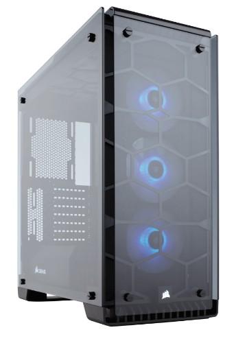 Corsair Crystal 570X Midi Tower Black, Transparent
