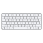 Apple Magic keyboard USB + Bluetooth Spanish Aluminium, White