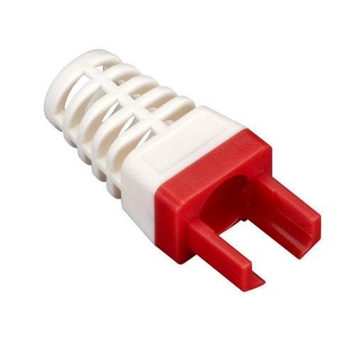 Black Box C6EZ-BOOT-RD cable boot Red, White 25 pc(s)