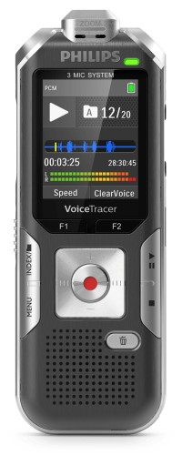 Philips Voice Tracer DVT6010 dictaphone Flash card Anthracite,Silver
