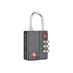 Wenger/SwissGear 604563 luggage lock Luggage combination lock Thermoplastic Rubber (TPR), Zinc Black