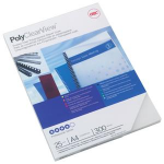 GBC PolyClearView Binding Covers 300 Micron A4 Frosted (100) binding cover