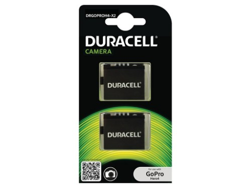Duracell Camera Battery - replaces GoPro Hero 4 Battery, 2 pack