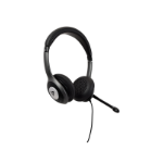 V7 USB-C Deluxe Headset with Noise Cancelling Mic, Volume Control, Digital Headset, Laptop Computer, Chromebook, PC - Black, Gray