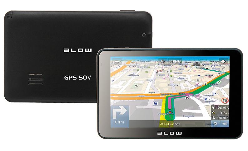 "BLOW GPS50V navigator 12.7 cm (5"") Touchscreen TFT Fixed Black"