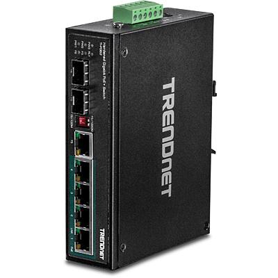 Trendnet TI-PG62 switch No administrado Gigabit Ethernet (10/100/1000) Negro Energía sobre Ethernet (PoE)