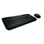 Microsoft 2000 RF Wireless QWERTZ German Black