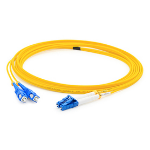 """AddOn Networks ADD-SC-LC-0.5M9SMF fiber optic cable 19.7"""" (0.5 m) OS1 Yellow"""