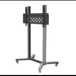 "PMV PMVTROLLEYXXL flat panel floorstand 2.54 m (100"") Fixed flat panel floor stand Black,Silver"