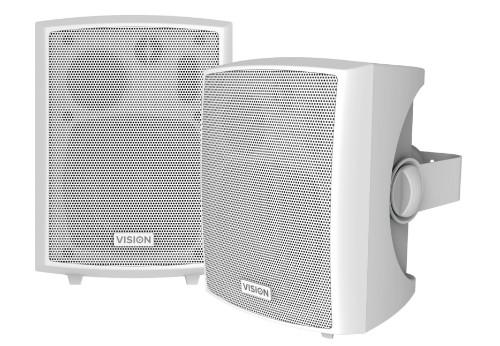 Vision SP-800P loudspeaker 3-way 24 W White Wired