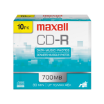Maxell 648210 blank CD CD-R 700 MB 10 pcs