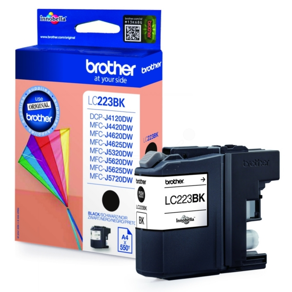 Brother LC-223BK Ink cartridge black, 550 pages, 12ml