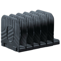 Avery Mainline Systemrack Book Rack Extendable 6 Sections W304xD183xH193mm Black Ref 66MLBLK