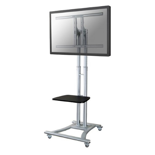 """Newstar Mobile Monitor/TV Floor Stand for 27-70"""" screen, Height Adjustable - Silver"""
