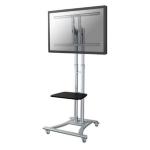 "Newstar Mobile Monitor/TV Floor Stand for 27-70"" screen, Height Adjustable - Silver"