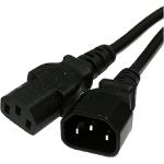 Cablenet 42 2962 3m C14 coupler C13 coupler Black power cable