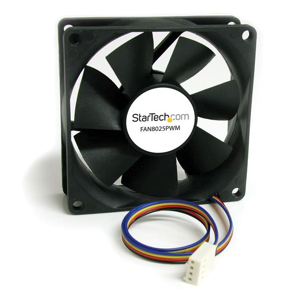 StarTech.com 80x25mm Computer Case Fan with PWM – Pulse Width Modulation Connector FAN8025PWM