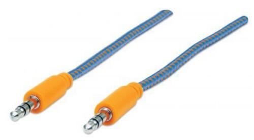 Manhattan 352802 audio cable 1 m 3.5mm Blue,Orange