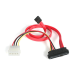 StarTech.com 18in SAS 29 Pin to SATA Cable with LP4 Power SAS729PW18