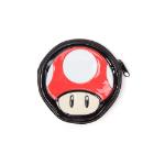 Nintendo Super Mario Bros. Women's Red Mushroom Shaped Zipped Coin Pouch Purse, One Size, Multi-colour (GW990