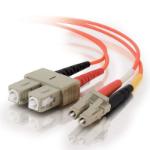 C2G 85489 fibre optic cable 15 m OFNR LC SC Orange