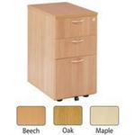 Jemini 3 Drawer Desk High Pedestal 600mm Oak KF72070