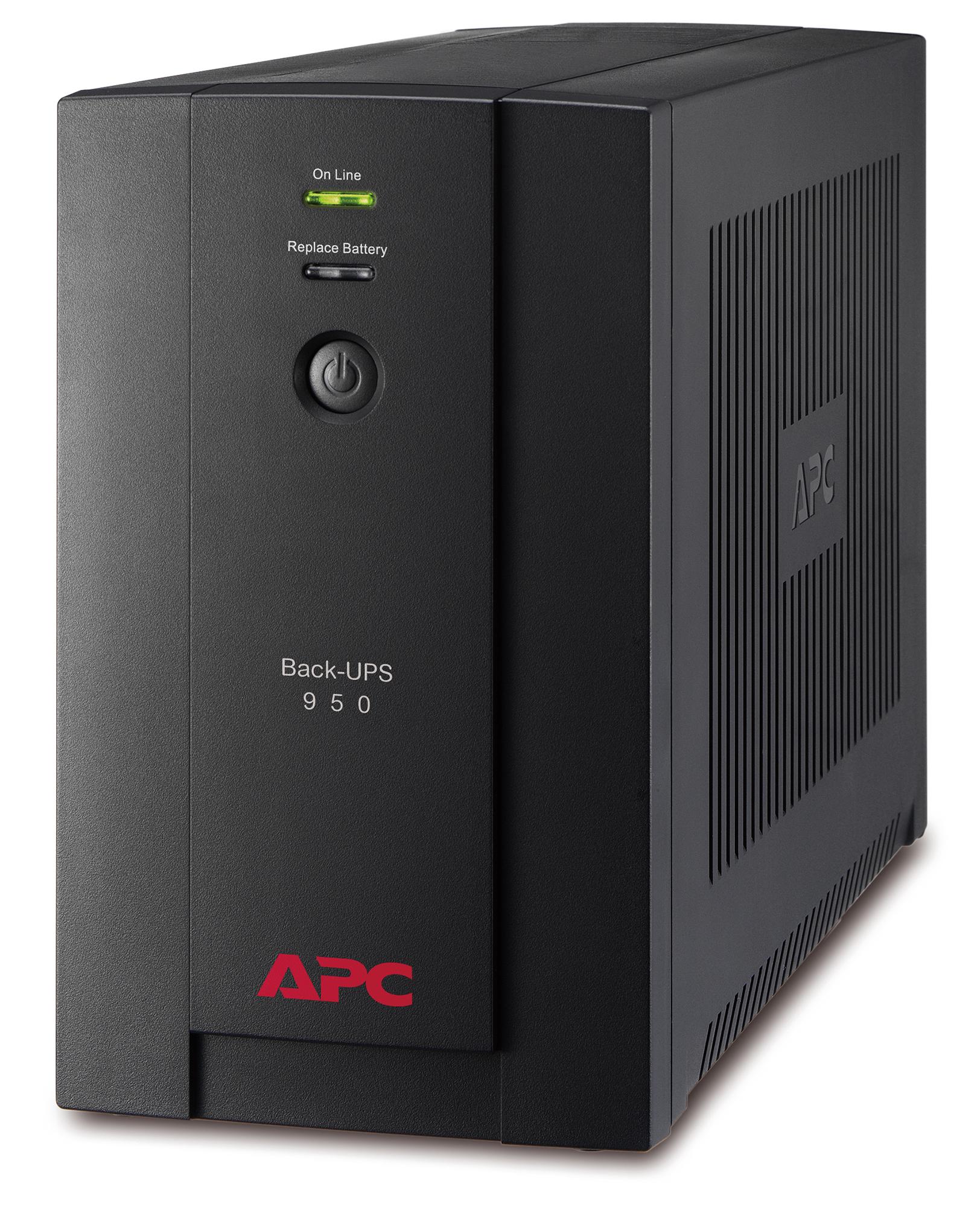 APC Back-UPS sistema de alimentación ininterrumpida (UPS) Línea interactiva 950 VA 480 W 6 salidas AC