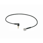 Plantronics US Mod-2.5mm telephony cable Black