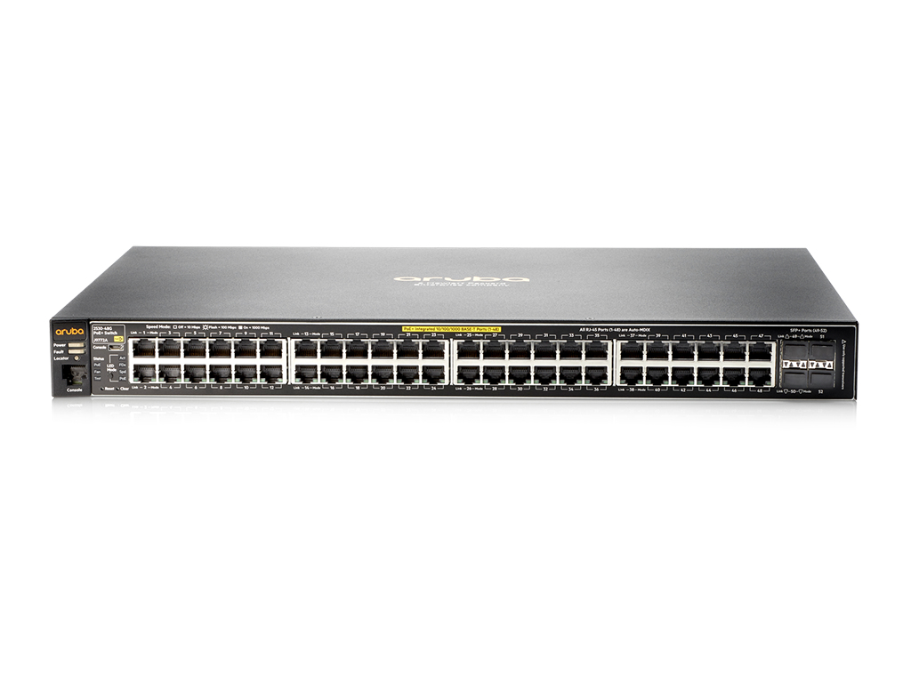 Hewlett Packard Enterprise Aruba 2530 48G PoE+ Gestionado L2 Gigabit Ethernet (10/100/1000) Gris 1U Energía sobre Ethernet (PoE)
